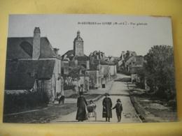 49 5862 CPA - 49 ST GEORGES SUR LOIRE. VUE GENERALE. EDIT. A. B. - ANIMATION. ENTREE DU BOURG - Saint Georges Sur Loire