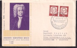 Deustche Bundespost - 1961 - FDC - Johann Sebastian Bach - Persönlichkeiten