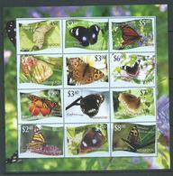 Tonga Niuafo'ou 2012 Butterfly Sheet Of 12  MNH - Tonga (1970-...)