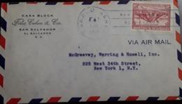 O) 1946 CIRCA -EL SALVADOR,ARCHEOLOGY- MAYAN PYRAMID ST ANDRES PLANTATION SC C99, FELIX COHEN AND CIA, AIRMAIL TO USA - El Salvador