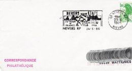 L4D292 Secap 28 Nievre 73 Eme Tour De France  Ville étape Nevers 24 06 1986/env.  Ent. - Marcophilie (Lettres)