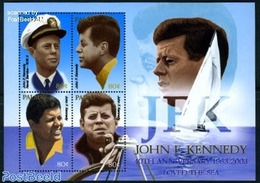 Palau 2003 J.F. Kennedy 4v M/s, (Mint NH), Transport - Ships And Boats - History - American Presidents - Palau