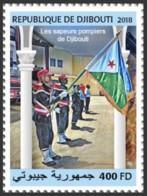 Djibouti 2018  Djibouti Firefighters , National Flag Of Djibouti  S201810 - Djibouti (1977-...)