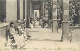 """.CPA FRANCE 69 """"Pierre Bénite, Le Perron, Véranda Du Grand Bâtiment De Femmes"""" - Pierre Benite"""