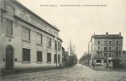 ".CPA FRANCE 69 "" Oullins,  Boulevard Emile Zola Et Etablissements Martin"" - Oullins"