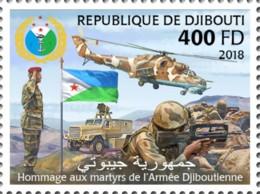Djibouti 2018  Djibouti Army , National Flag Of Djibouti  S201810 - Djibouti (1977-...)