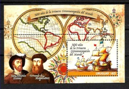 URUGUAY 2019 MAGALLANES-EL CANO 500° ANIV FIRST ROUND TRIP AROUND WORLD,SHIPS,SSHEET MNH - Uruguay