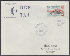 """Nelle-Calédonie:  1°LIAISON PAR """"JETLINER"""" DC8/TAI NOUMEA-PARIS Sur LSC Du 21/9/1960 - Briefe U. Dokumente"""