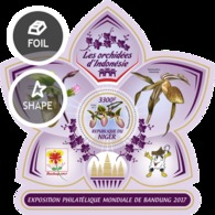 Niger 2017 International Stamps Exhibition Bandung , Orchids S201712 - Niger (1960-...)