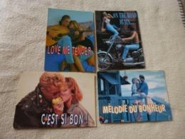 LOT DE  4 CARTES JEUNES COUPLES ...QUAND LA MUSIQUE EST BONNE...PHOTO C. NIKOLSON - Couples