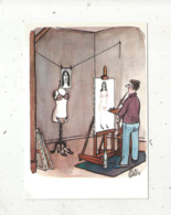 Cp,illustrateur Signée TETSU , 3 E Série ,humour ,les Grands Humoristes,tirage 500 Ex.,  Vierge - Autres Illustrateurs