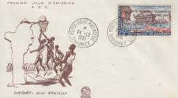 Enveloppe  FDC  1er  Jour   DAHOMEY    Jeux  Sportifs  D' ABIDJAN   1961 - Bénin – Dahomey (1960-...)