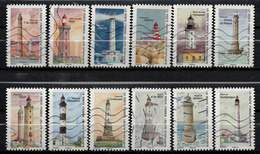 SÉRIE COMPLÈTE 12 TIMBRES 2019 REGARDS SUR NOS COTES PHARES - Used Stamps