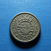 Portuguese S. Tomé E Príncipe 2 1/2 Escudos 1962 - Portogallo