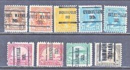 U.S. 556 +   Perf. 11   (o)   IND.  STATE   1922-25  Issue - Precancels