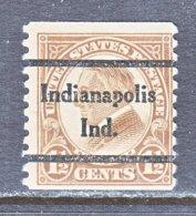 U.S. 598   Perf. 10   (o)   IND.  STATE   1925  Issue - Precancels
