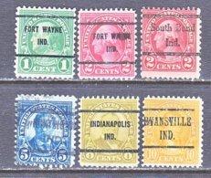 U.S. 632 +   Perf. 11 X 10 1/2   (o)   IND.  STATE   1926-34  Issue - Precancels