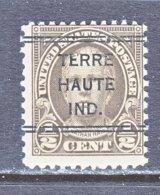 U.S. 653   Perf. 11 X 10 1/2   (o)   IND.  STATE   1929  Issue - Precancels