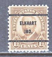 U.S. 684   Perf. 11 X 10 1/2   (o)   IND.  STATE   1930  Issue - Precancels