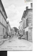HIERSAC  RUE DE LA GARE  PERSONNAGES  Pli Coin Haut Gauche    DEPT 16 - Francia