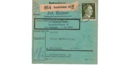 Allemagne  - Colis Postal  Départ Saarbrücken - Orthopädiemechanikermeister -   Pour Beningen  ( Bening   ) - Allemagne