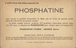 1322 CPA Publicité Phosphatine - Image Magique - Coloriage Instantanné Par Simple Passage D'un Pinceau Imbibé D'eau.. - Chocolat