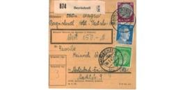 Allemagne  - Colis Postal  Départ Bayrischzell  - 20-1-43 - Lettres & Documents