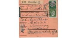 Allemagne  - Colis Postal  Départ Lebach ( Saar )  - 20-1-43 - Briefe U. Dokumente