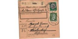 Allemagne  - Colis Postal  Départ Andlau  - 2-2-43 - Allemagne