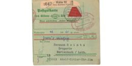 Allemagne  - Colis Postal  Départ Köln  - 2-43 - Allemagne