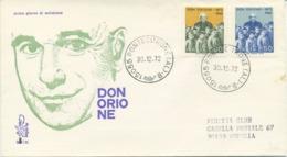 ITALIA - FDC VENETIA 1972 - DON LUIGI ORIONE - VIAGGIATA PER VENEZIA - 6. 1946-.. Repubblica