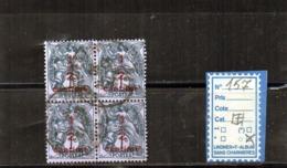FRANCE OBLITÉRÉ - N° 157 Bloc De 4 - 1900-29 Blanc
