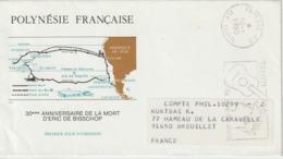 Lettre Polynésie 1990 Pour La France - Polynésie Française