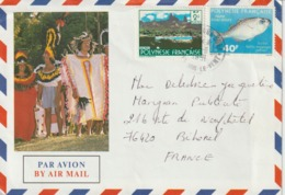 Lettre Polynésie 1991 Pour La France - Lettres & Documents