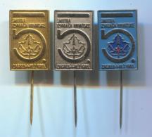 SCOUTING, SCOUTISME, BOY SCOUT - Jamboree Zagreb Croatia, Vintage Pin, Badge, Abzeichen, 3 Pcs - Associazioni