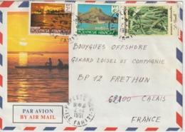 Lettre Polynésie 1991 Pour La France - Polynésie Française