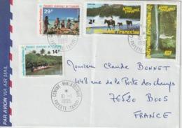 Lettre Polynésie 1995 Pour La France - Lettres & Documents