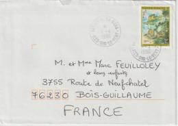 Lettre Polynésie 1996 Pour La France - Polynésie Française
