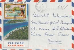 Lettre Polynésie 1997 Pour La France - Polynésie Française