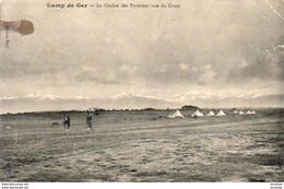 D64  CAMP DE GER  La Cha?ne Des Pyr?n?es Vue Du Camp  ..... - Francia