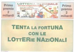1996 £750 MONTE SANT'ANGELO SU CARTOLINA LOTTERIA NAZIONALE - Pubblicitari