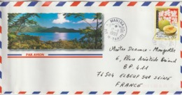 Lettre Polynésie 1999 Pour La France - Lettres & Documents