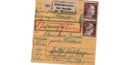 Allemagne  - Colis Postal  Départ Zakroozym - Spittel  Waldheim  -   3-9-43 - Allemagne