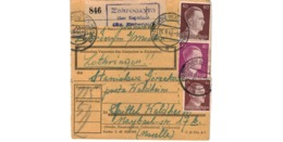 Allemagne  - Colis Postal  Départ Zakroozym - Spittel  Waldheim  -   6-9-43 - Allemagne