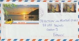 Lettre Polynésie 2012 Pour La France - Lettres & Documents