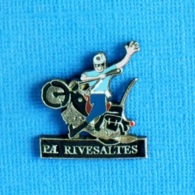 1 PIN'S //   ** GENDARMERIE NATIONALE / P.A. RIVESALTES ** - Militaria