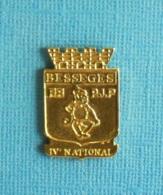 1 PIN'S //   ** BESSÈGES / F.F.P.J.P. / IVè NATIONAL ** - Pétanque