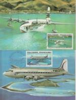 Polynésie Carte Maximum 1979 Série Avions PA 148-52 5 Cartes - Cartes-maximum