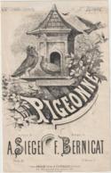(ETH)la Pigeonne ,  DUPARC , Paroles A SIEGEL , Musique F BERNICAT - Partitions Musicales Anciennes