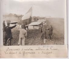 CONCOURS D'AVIATION MILITAIRE DE REIMS LE DÉPART DE WEYMANN SUR NIEUPORT 18*13CM Maurice-Louis BRANGER PARÍS (1874-1950) - Aviación